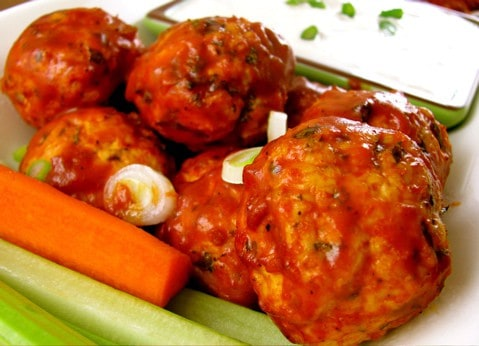 Buffalo Chicken Meatballs - Clean+Delicious®