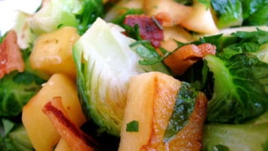Apple Sprouts With Bacon