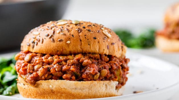 lentil joe's sandwich on a plate
