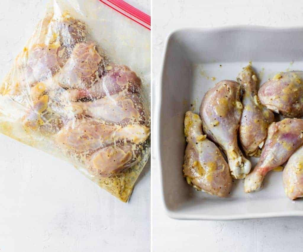 marinating chicken in a bag with seasonings