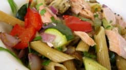 Wild Salmon And Veggie Pasta