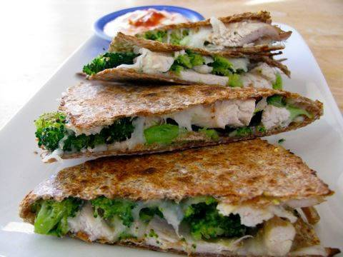 Chicken & Broccoli Quesadilla