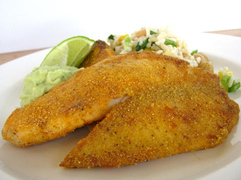 Cornmeal Crusted Tilapia