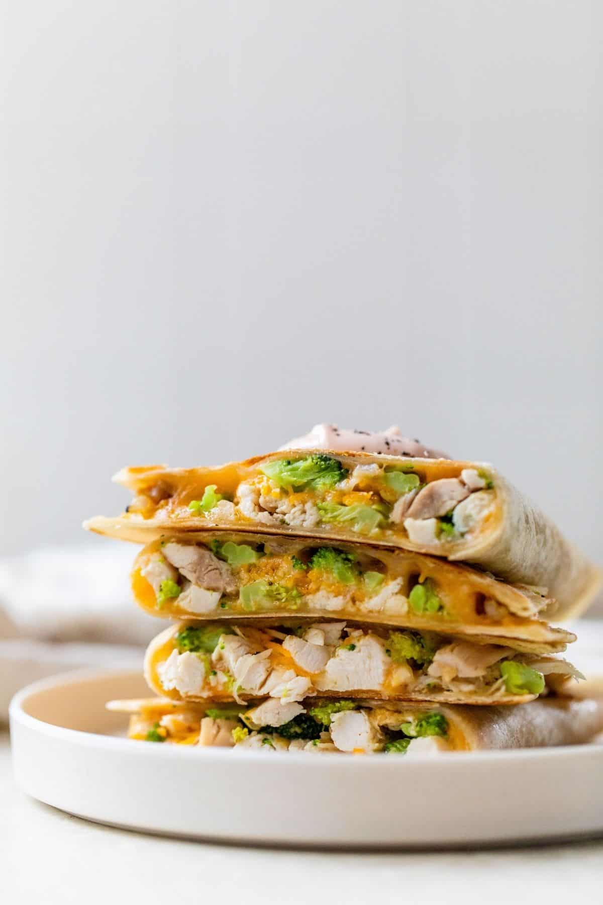 quesadillas stacked on top of one another