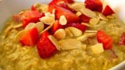 Strawberry Vanilla Protein Oats