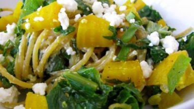Golden Beet & Greens Pasta