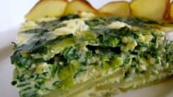 Potato Crusted Chard Quiche