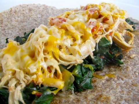 Chicken and Chard Burrito - Clean & Delicious®