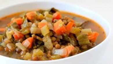 Lentil Veggie Soup w/ Chard