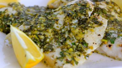 Broiled Sole Scampi