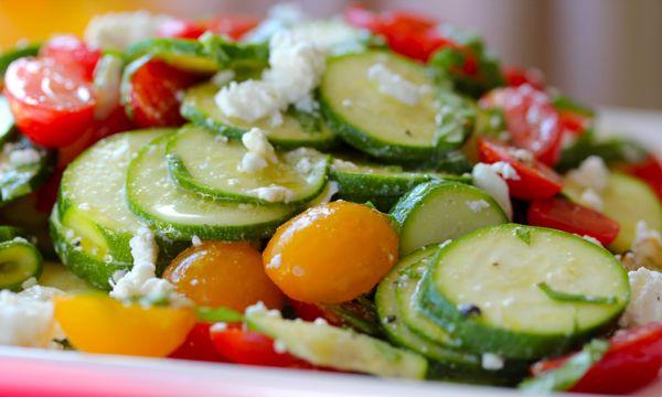 Raw Sumer Squash Salad