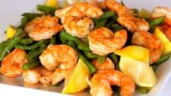Roasted Shrimp & Green Beans