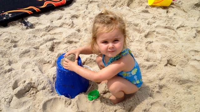 KAtie in he sand
