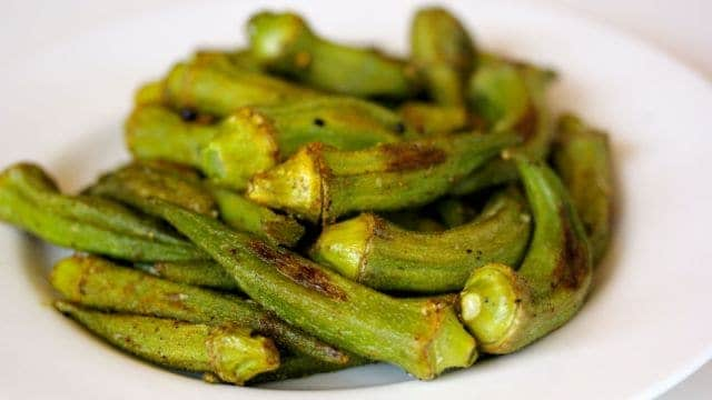 Roasted Okra Fries
