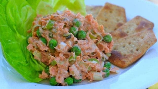 Salmon Scallion Salad