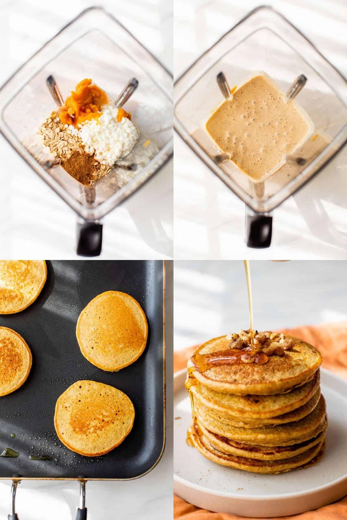 how to make pumpkin protein pancakes