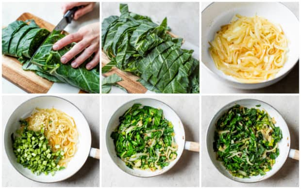 instructions on how to make sautéed collard greens