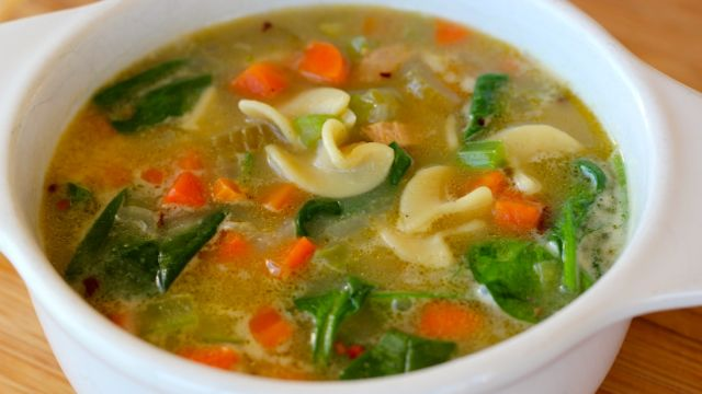 Kicked Up Chicken Soup