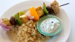 Swordfish & Veggie Kebabs
