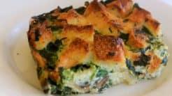 Spinach Mushroom Strata