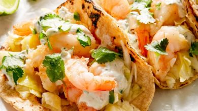 steps for making shrimp tacos