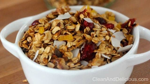 Clean Eating Stovetop Granola - Clean+Delicious®