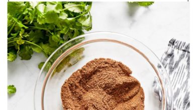 homemade taco seasoning in a small glass bowl