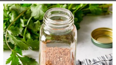 all natural taco seasoning in a small jar