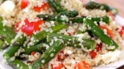 Roasted Asparagus Quinoa Salad