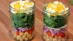 Spinach Salad Jars