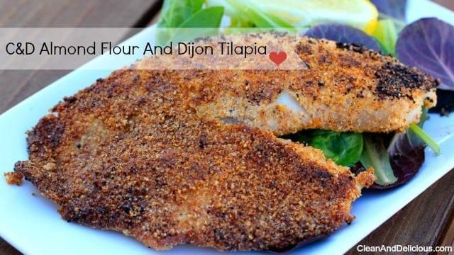 Almond Dijon Tilapia - Clean&Delicious