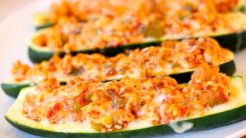 Turkey Stuffed Zucchini Boats - Clean & Delicious®