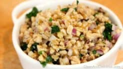 Farro Salad With Sardines & Kale - Clean & Delicious®