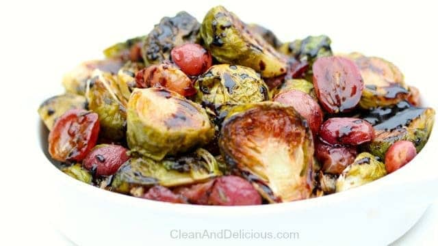 Brussels Sprouts + Grapes