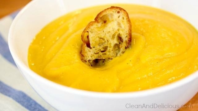 Roasted Butternut Squash + Apple Soup