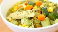 Green Chicken + Veggie Soup - Clean & Delicious.com