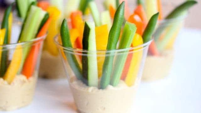 Veggie + Hummus Cups