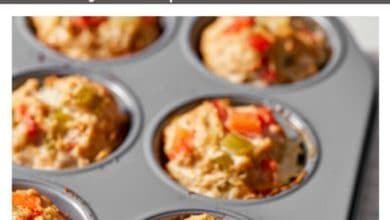 meatloaf muffins in a muffin pan
