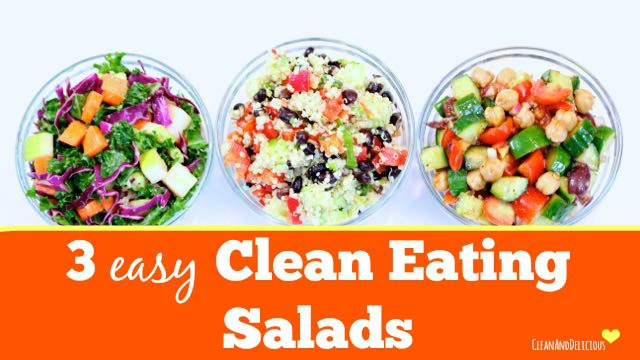 3 Clean Eating Salads - Clean&Delicious®