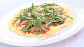 Egg Spinach Pizza