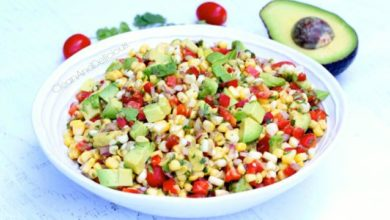 Summer Corn Avocado Salad