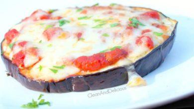 Eggplant Pizza Round