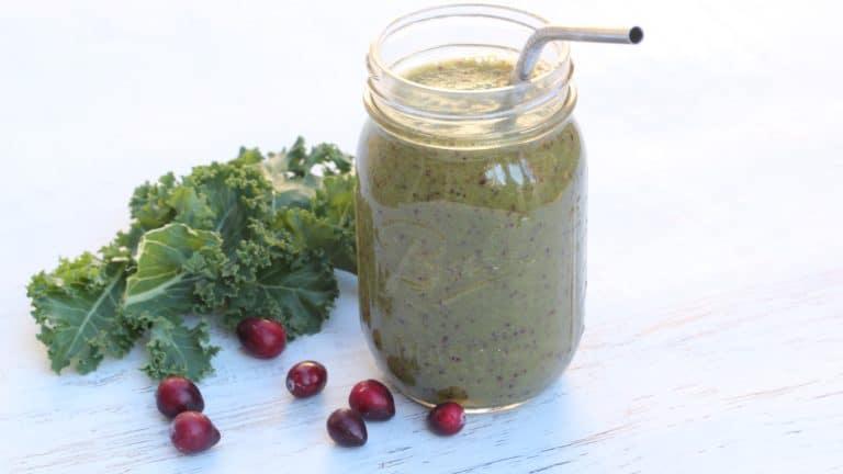 Cranberry Kale Smoothie