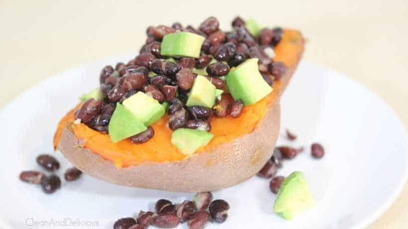 Sweet Potato w/ Black Beans