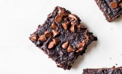 avocado brownie square