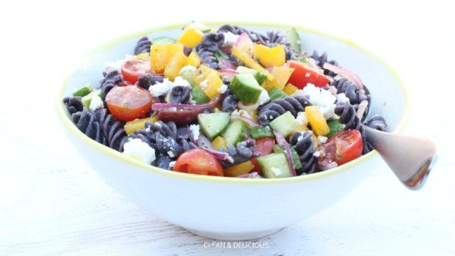 Greek Black Bean Pasta Salad