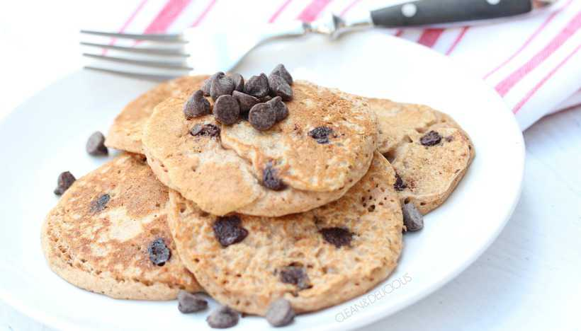Whole Wheat Chocolate Chip Pancakes - Clean & Delicious with Dani ...
