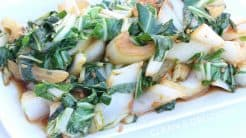 how to clean bok choy for soup