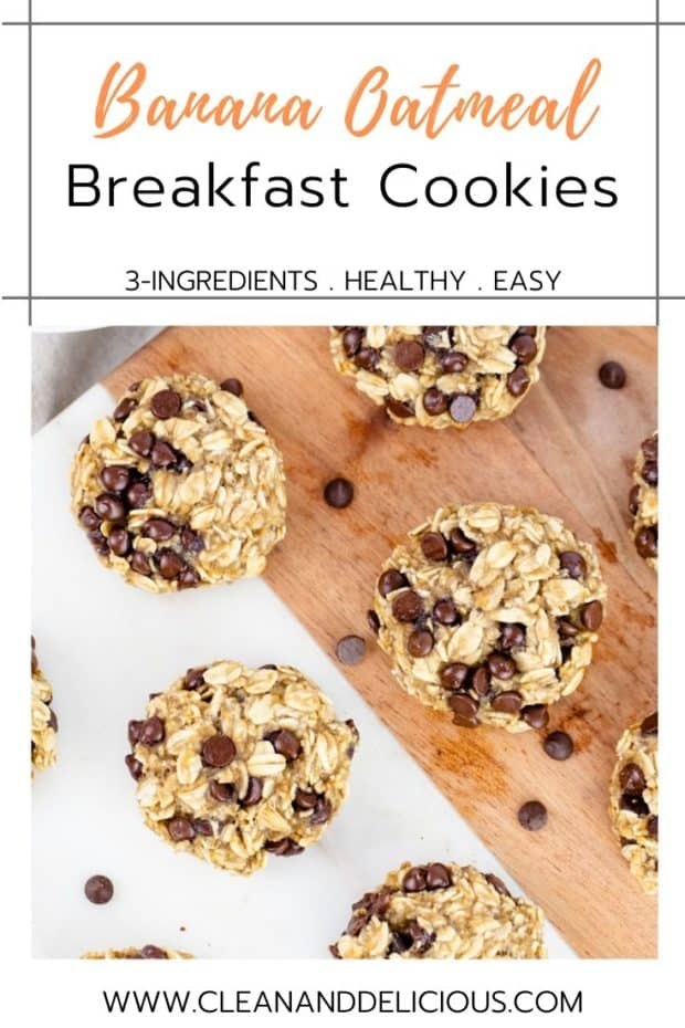 breakfast cookies on a serving tray