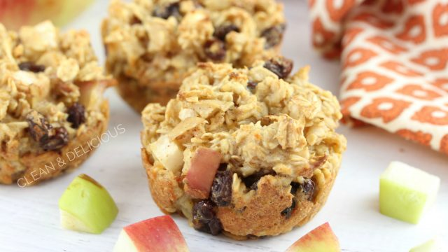 Bakes Apple Oatmeal Cups - Clean & Delicious with Dani Spies